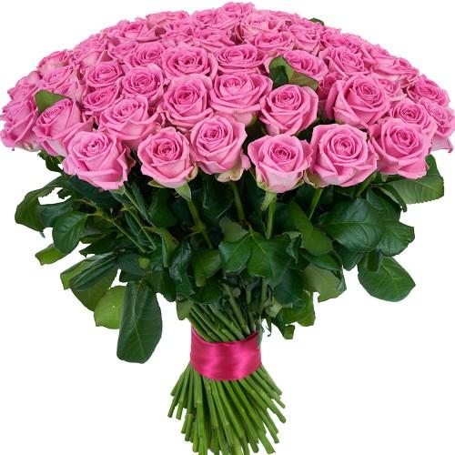Купить на заказ Букет из 101 розовой розы с доставкой в Степняке