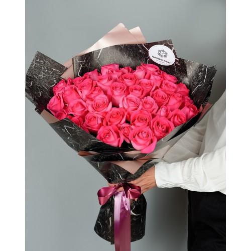 Купить на заказ Букет из 51 розовых роз с доставкой в Степняке