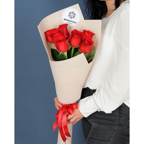 Купить на заказ Букет из 7 роз с доставкой в Степняке