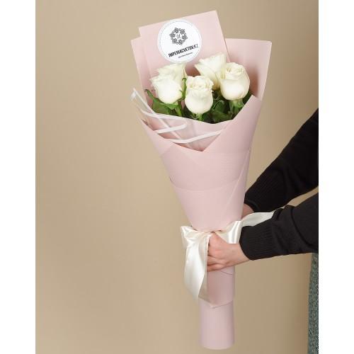 Купить на заказ Букет из 5 роз с доставкой в Степняке