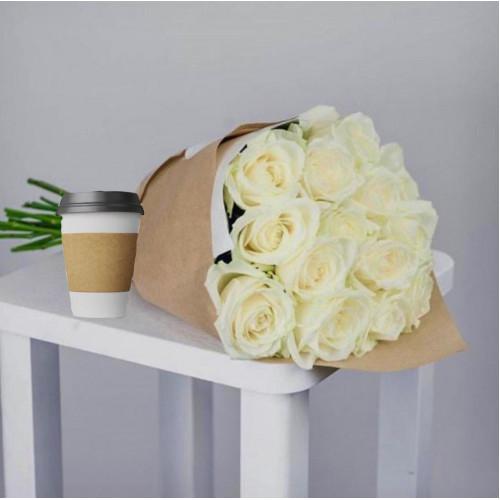 Купить на заказ Кофе с цветами с доставкой в Степняке