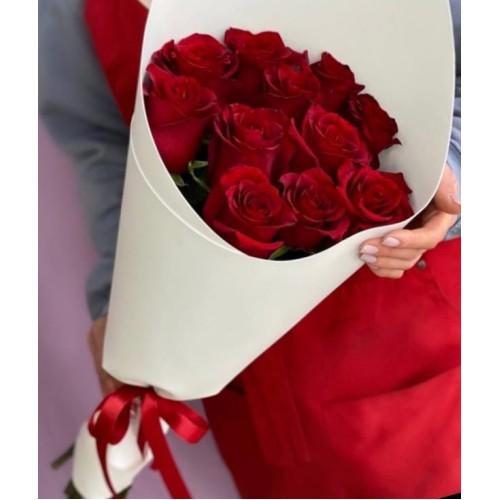 Купить на заказ Букет из 11 красных роз с доставкой в Степняке
