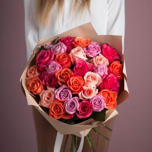 Купить на заказ Букет из 25 роз (микс) с доставкой в Степняке