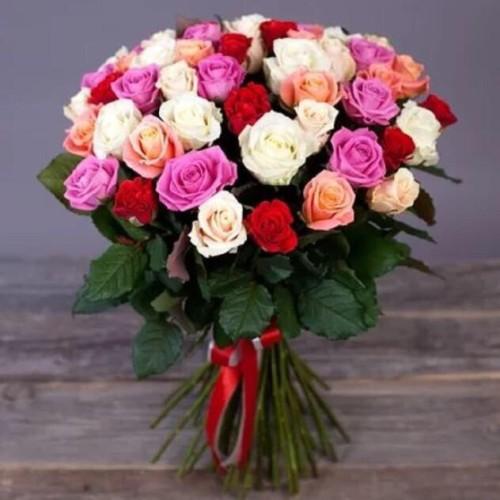 Купить на заказ Букет из 31 розы (микс) с доставкой в Степняке